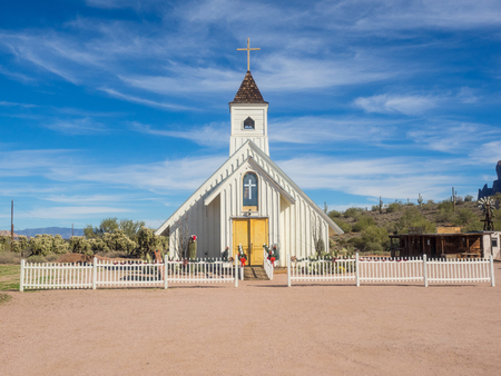 superstition: Elvis Memorial Chapel on the grounds of Superstition Mountain Museum. Editorial