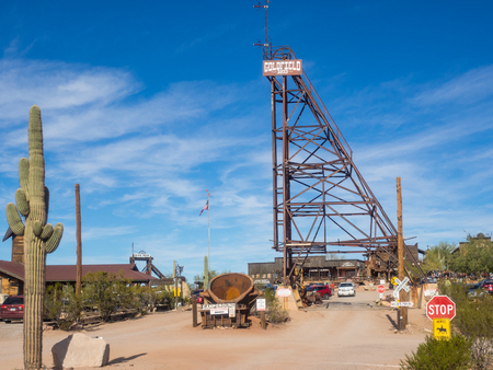 Goldfield was a gold mining town, now a ghost town northeast of Apache Junction in Pinal County, Arizona.