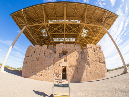 distinctive: Casa Grande Ruins National Monument in Coolidge, Arizona, just northeast of the city of Casa Grande, preserves a group of Ancient Pueblo Peoples Hohokam structures of the Pueblo III and Pueblo IV Eras.
