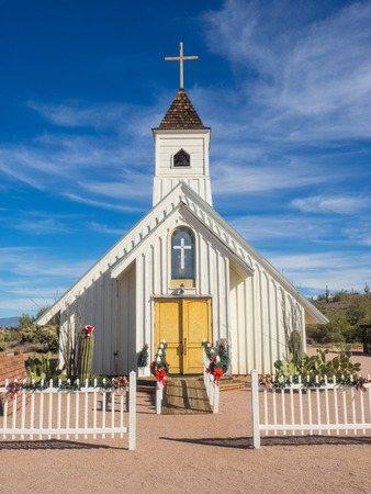 Elvis Memorial Chapel on the grounds of Superstition Mountain Museum. Editorial