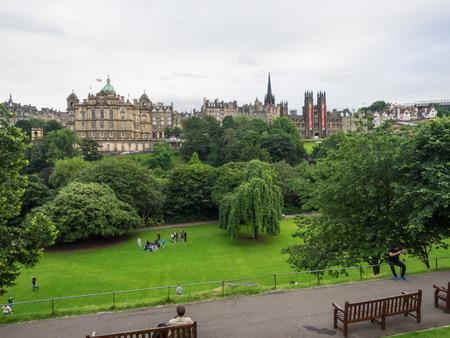 Princes Street Gardens is a public park in the centre of Edinburgh, Scotland, in the shadow of Edinburgh Castle.