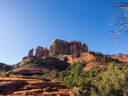 Cathedral Rock is a famous landmark on the Sedona, Arizona skyline, and is one of the most-photographed sights in Arizona, USA.