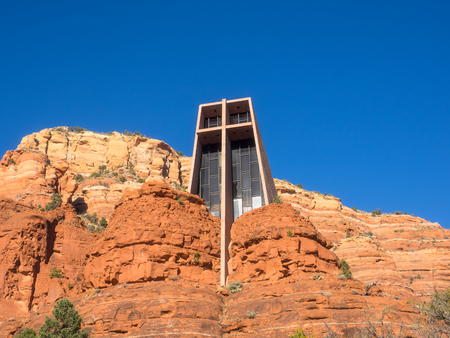 parish: Chapel of the Holy Cross is a Roman Catholic chapel built into the buttes of Sedona, Arizona, run by the Diocese of Phoenix, as a part of St. John Vianney Parish in Sedona.