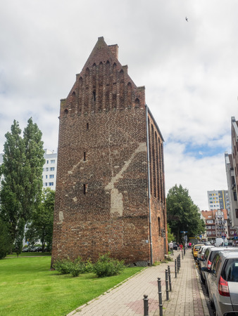 Fuse Tower, last remnant of the medieval fortification in Kolobrzeg.