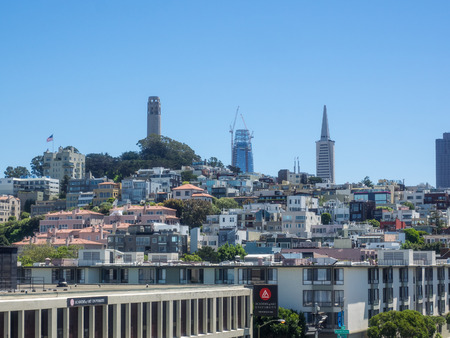 View of San Francisco from the top of Pier 39.