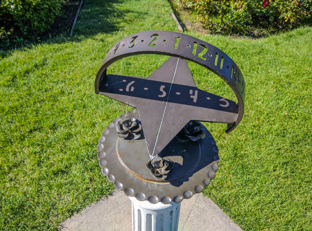 Sundial is a device that tells the time of day by the apparent position of the Sun in the sky.
