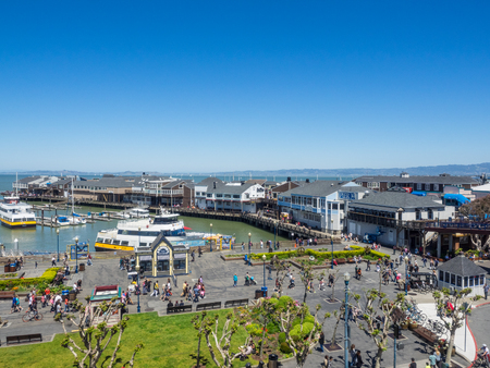 alcatraz: Pier 39 is a shopping center and popular tourist attraction built on a pier in San Francisco, California.