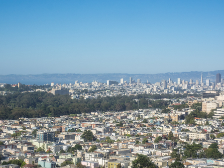 coit: Grand view of San Francisco from Turtle Hill.