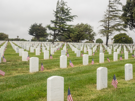 national military cemetery: Memorial Day observance at Golden Gate National Cemetery in San Bruno, California.