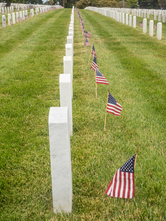 Memorial Day observance at Golden Gate National Cemetery in San Bruno, California.