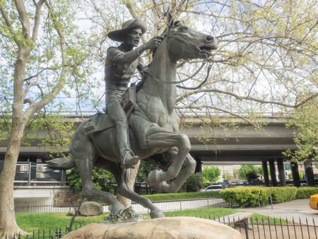 Pony Express statue in Old Sacramento Historic District.