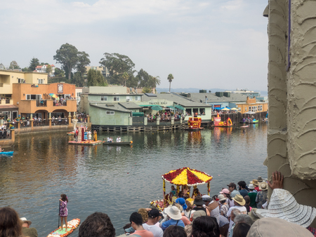 Capitola, CAUSA - August 31 - Septempber 4, 2017: 65th Capitola Begonia Festival is four day tradition that celebrates the begonia growing and water festival history of Capitola.