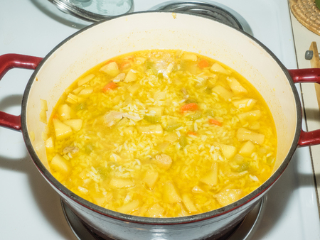Mulligatawny is an English soup with origins in Indian cuisine.