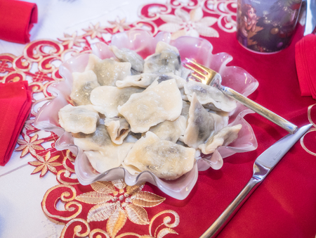 Pierogi are served in a variety of forms and tastes (ranging from sweet to salty to spicy) in Polish cuisine, considered to be the Polish national dish.
