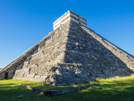 Chichen Itza (at the mouth of the well of the Itza people) was a large pre-Columbian city built by the Maya people of the Terminal Classic period. The archaeological site is located in Tinúm Municipality, Yucatán State, Mexico. Editorial