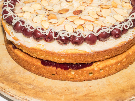 Cherry Bakewell cake delicious cake inspired by the flavours of a cherry bakewell tart.