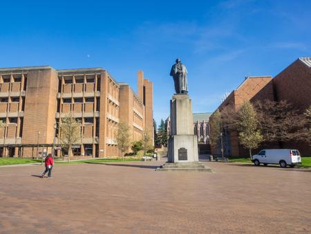 Statue of George Washington at University of Washington in Seattle.