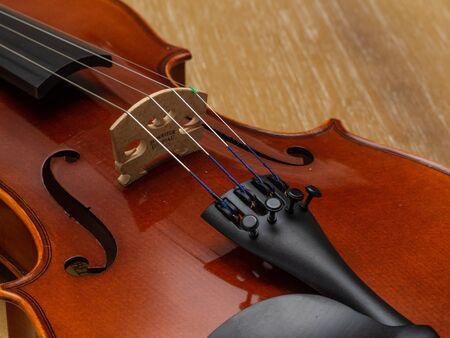 El violín, también conocido informalmente como violín, es un instrumento de cuerda de madera de la familia del violín. La mayoría de los violines tienen un cuerpo de madera hueco. Es el instrumento más pequeño y de tono más agudo de la familia que se utiliza habitualmente.
