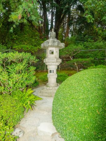 Seattle Japanese Garden is a 3.5 acre Japanese garden in the Madison Park neighborhood of Seattle. Banco de Imagens