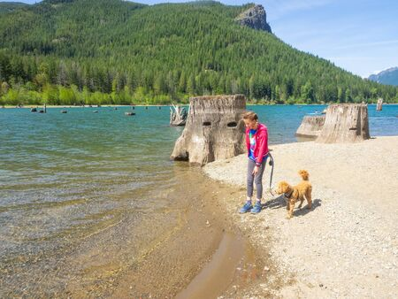 Rattlesnake Lake is a lake in King County, Washington, located in Rattlesnake Mountain Scenic Area some 30 miles (48 km) east of Seattle. 写真素材
