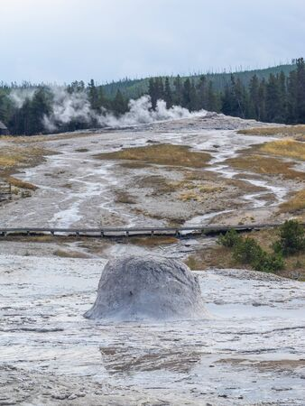Upper Geyser Basin which has the highest concentration of geothermal features in the park. This complement of features includes the most famous geyser in the park, Old Faithful Geyser, as well as four other predictable large geysers.