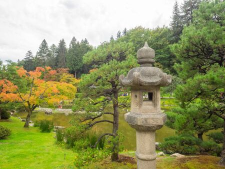 Seattle Japanese Garden is a 3.5 acre Japanese garden in the Madison Park neighborhood of Seattle. 스톡 콘텐츠