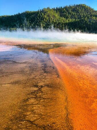 Grand Prismatic Spring in Yellowstone National Park is the largest hot spring in the United States.