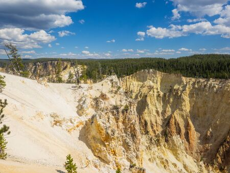 Grand Canyon of the Yellowstone is the first large canyon on the Yellowstone River downstream from Yellowstone Falls in Yellowstone National Park in Wyoming.