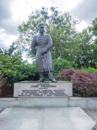 Monument to Józef Piłsudski in Toruń - a statue of the co-founder of independence and the first marshal of Poland.