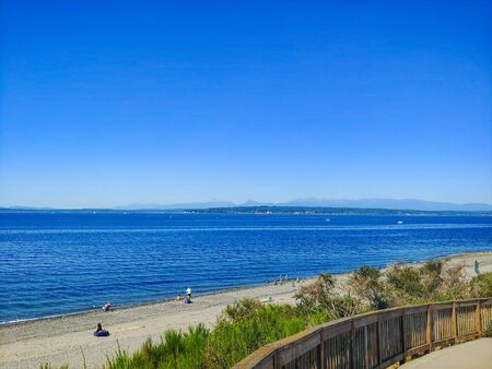 Richmond Beach Saltwater Park is beachfront park featuring walking trails, picnic shelters & a playground with Puget Sound views.