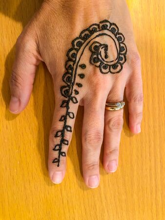 Mehndi Is A Form Of Body Art Originating In Ancient India In Stock Photo Picture And Royalty Free Image Image 144526731