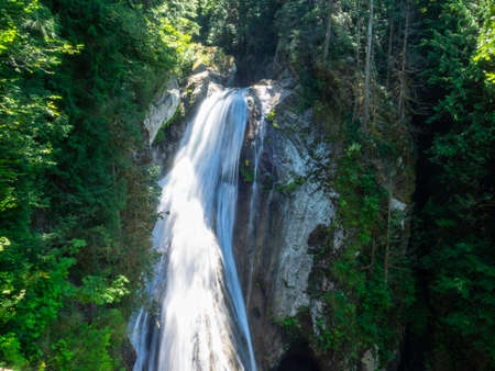 Moderate trails lead to the popular Twin Falls, the smaller Weeks Falls and other cascading water falls, or past the remains of a massive landslide to Cedar Butte.