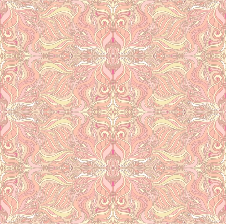 Seamless Abstract beige and pink pattern  Vector
