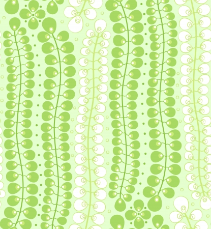 seamless pattern with Long green leaves on a green background Stock Vector - 14582955