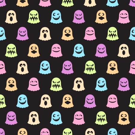 seamless pattern of a cute little ghosts