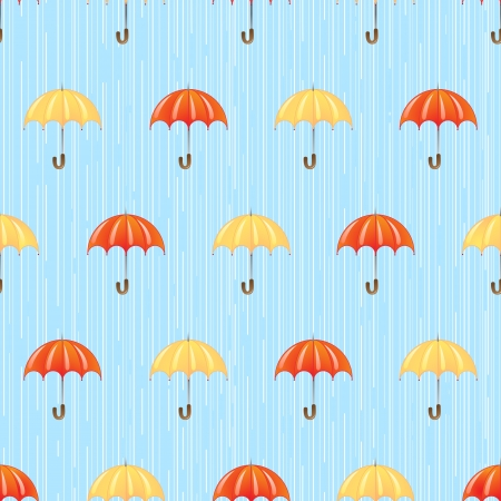 seamless pattern with red and yellow umbrellas Stock Vector - 14872986