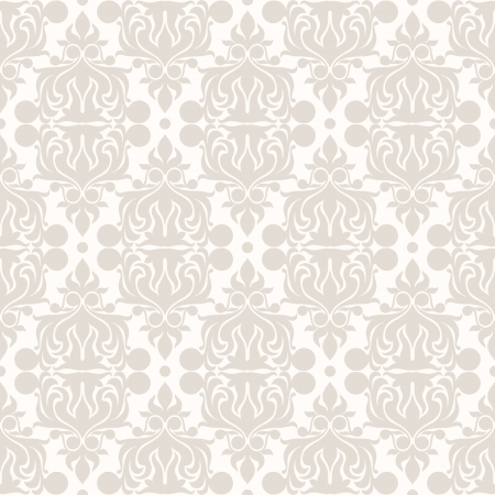 retro gray nature seamless pattern  Vector