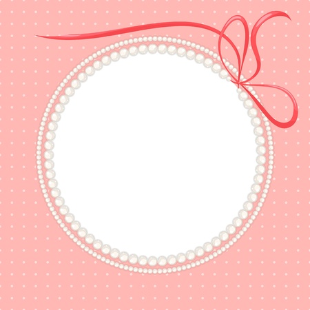 pearls and threads: beautiful frame with pearl necklaces