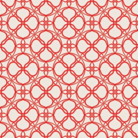 Seamless pattern with bound red thread