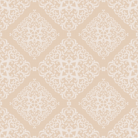 wallpapers: Beautiful seamless pattern with beige square ornate pattern