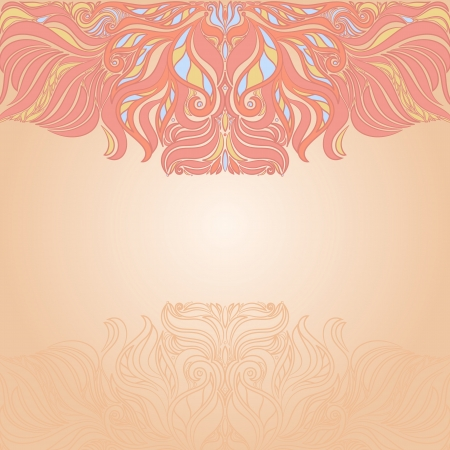 pink and orange abstract background with place for text Stock Vector - 17289757