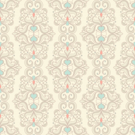 seamless picture with vertical floral pattern on yellow background Stock Vector - 17289980