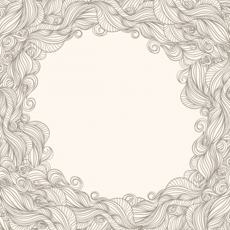 frame with abstract pattern on beige background