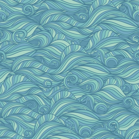 Seamless wallpaper with blue abstract pattern