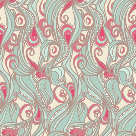 seamless vertical picture with floral pattern on beige background Stock Vector - 17289754