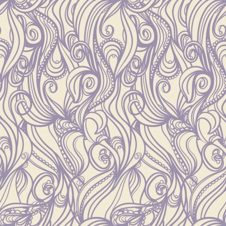 seamless vertical picture with floral pattern on beige background Vector