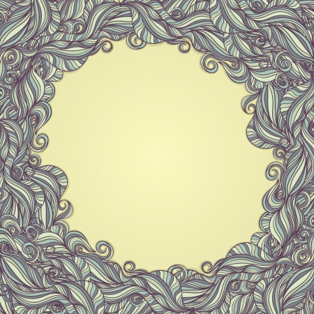 frame with abstract pattern on yellow background Vector
