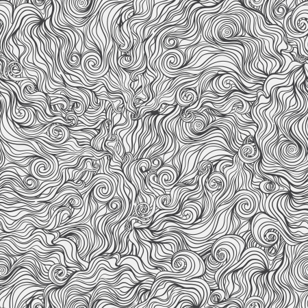 Seamless wallpaper with gray abstract pattern on white background   Illustration