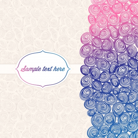 beautiful background with color abstract pattern and place for text Vector
