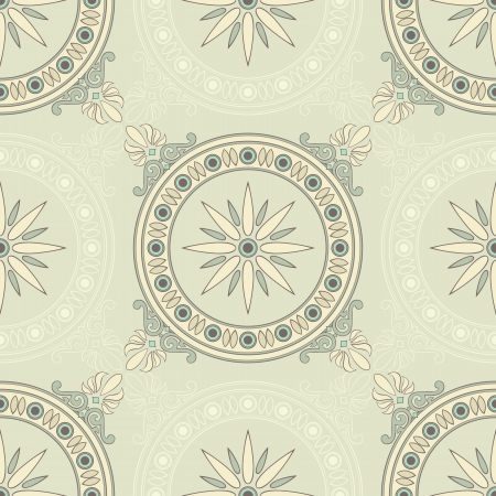 vintage green floral seamless pattern Stock Vector - 18124414